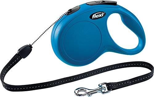 flexi New Classic S Seil 8 m blau für Hunde bis 12 kg