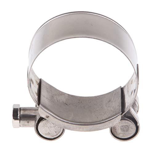 Almencla Universal Edelstahl Auspuffrohr Rohrschelle Schlauchschelle Auspuffschelle für Motorrad, 6 Größen - 40-43mm