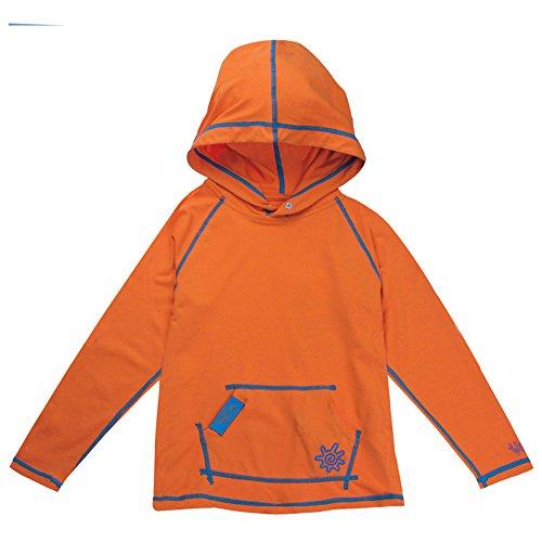 UV SKINZ UPF50+ Boys Pullover Hoodie-Orange-4T