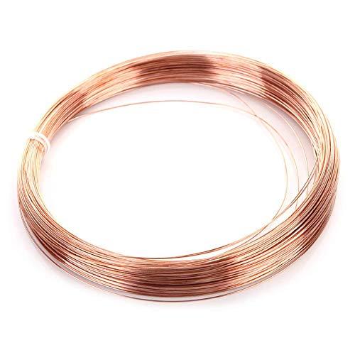 Asitlf 99,9% Pur Fil de cuivre 10m / 32.8ft T2 CU Nu Ligne Solide Perles métal,Diameter 1.5mm