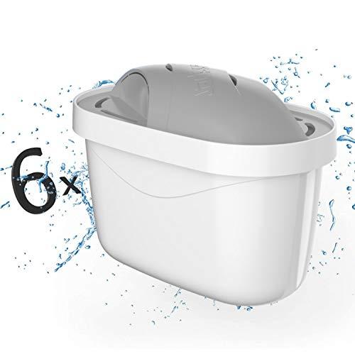 Wessper - Cartuchos de filtro de agua para agua dura (6 unidades, compatibles con Brita Maxtra Plus Protect)