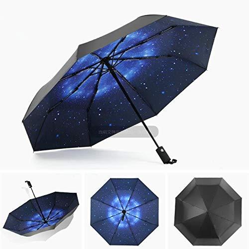 Sonnenschirm Regenschirm Anti-Uv Vollautomatischer Regenschirm Regen Winddicht Große Männliche Frauen Sonne 3 Klappschirm Outdoor Parapluie Sameasphoto