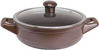 Caçarola de Cerâmica Duo Buffet, 24cm, 1,9 Litros, Chocolate, Ceraflame