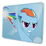 My Little Pony Mouse Pad Mouse Mat with Stitched Edge Non-Slip Rubber Base Large Mouse Pads for Laptops Computers and PCs 12 X 10 X 0.12 Inches