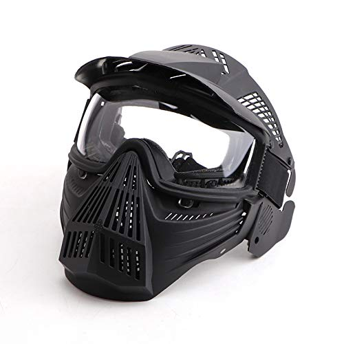 Paintball Mask, Airsoft Mask Full Face Protection Gear with Goggles Impact Resistant for Hunting CS...