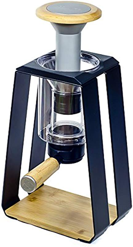 Trinity ONE 3 In 1 Press Drip Immersion Specialty Coffee Maker Black