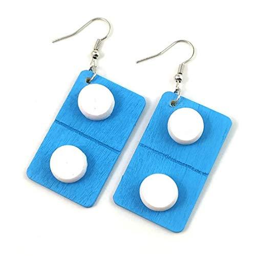Moonring, orecchini a forma di pillola per pillole, orecchini a capsula per infermieri, orecchini pendenti divertenti da donna, pillola blu
