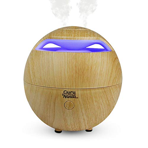 GuruNanda Light Globe Essential Oil Diffuser - 7 Color Changing LED Lights - Cool Mist Ultrasonic Humidifier For Aromatherapy Oils - Water Auto Shut-off …(Light Globe (No Oils))