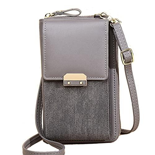 Bandolera ligera de piel para mujer, pequeña bandolera cruzada, carteras y bolsos de mano con ranuras para tarjetas de crédito, para teléfonos móviles de menos de 6,5 pulgadas, color,