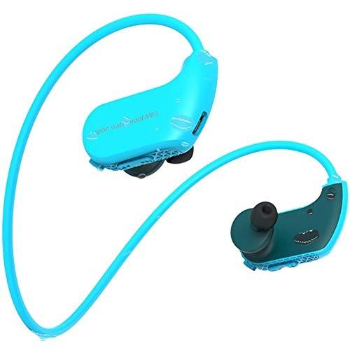 KAIXIN wasserdichte Kopfhörer, wasserdichte Kopfhörer Schwimmen IPX8 8 GB Speicher Staubdichtes HiFi Musik Kopfhörer for Laufen/Radfahren/Training/Jogging/Tauchen Wasser (Color : B)