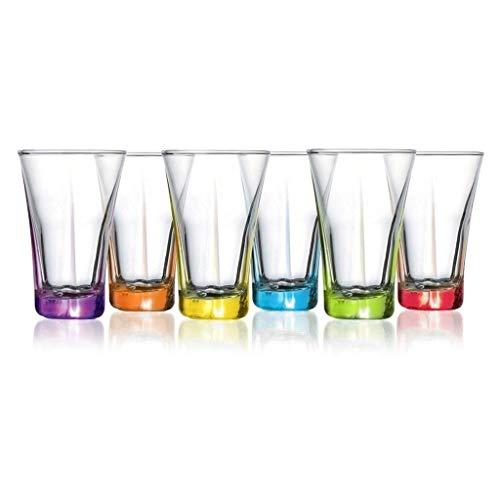 Set di 6 bicchieri da liquore in colori assortiti trasparenti da barware da 99,2 g (Coral Tru309, 6)
