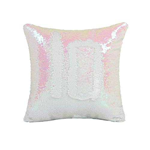 Pillow Cover Sequin Magic Reversible Scale Mermaid Pillow Cover Fish Throw Cushion Case