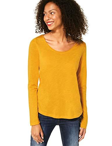Street One Damen Style Gerda T-Shirt, Amber Yellow, 40