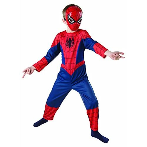 Rubie's IT887696-L - Ultimate Spiderman Classic Costume, in Scatola, Taglia L