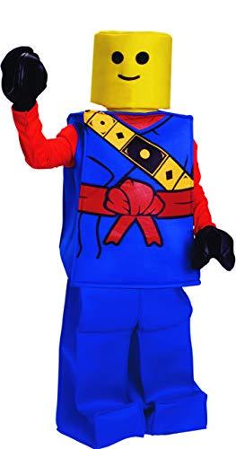 Dress Up America Halloween Kinder Block Ninja Mann Kostüm Outfit blau