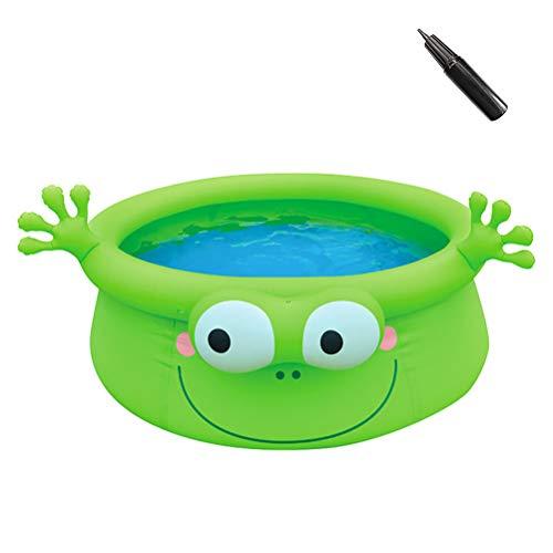 Portable Opblaasbare Basin Pool Verwisselbare Buiten Bovengronds Zwembad Dikke Opblaasbaar Zwembad Voor Kinderen,Frog 175 * 62cm