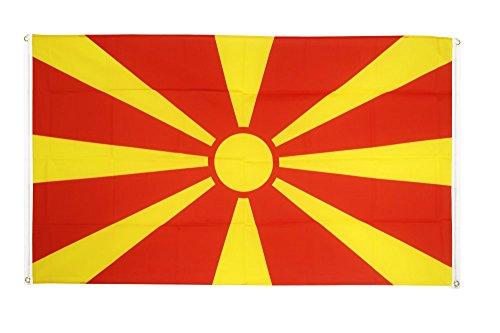 Flaggenfritze® Balkonflagge Mazedonien - 90 x 150 cm