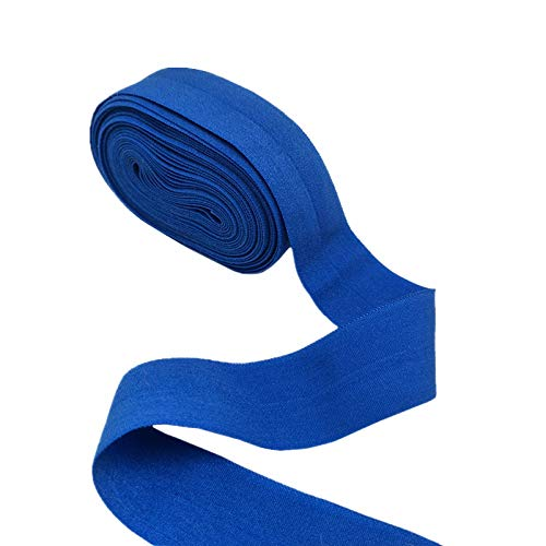 YEQIN Elastic Ribbon Elastic Band Multirole Fold Over Elastics Spandex Ribbon Sewing Lace Fabric Band Garment Accessory Folding tape (Blue)