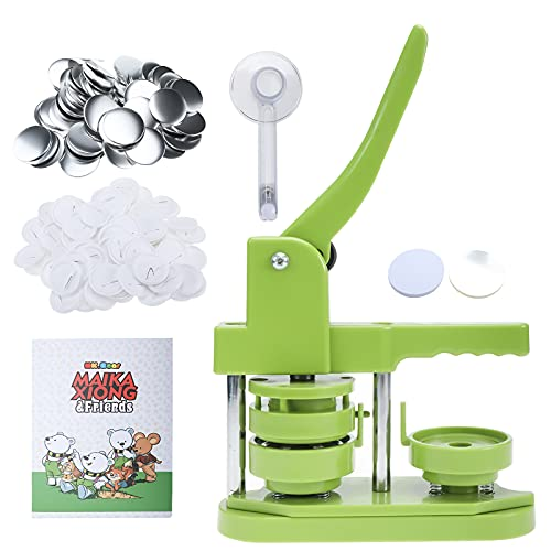 Tysun Button Badge Maker Machine, 58mm (2.25in) DIY Pin Button Maker Press Machine Badge Punch Press with Free 100pcs Button Parts&Pictures&Circle Cutter