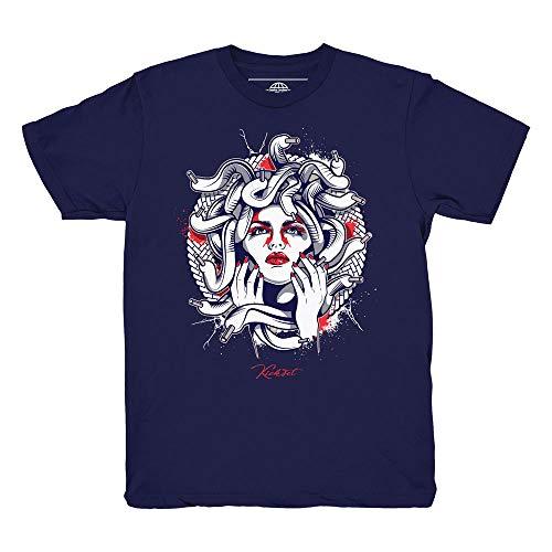 Price comparison product image Tinker 6 Medusa Navy Blue Shirt to Match Jordan 6 Tinker Sneakers (Medium)