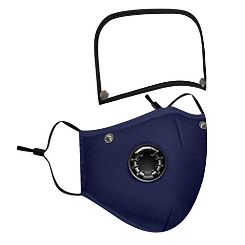 Reusable Face Covering with Breathing Valve Filter And Detachable Eye Shield Seamless Face Bandanas For Adults and Kids 5