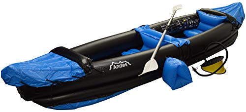 Andes Blue Inflatable/Blow Up Two Person Kayak/Canoe With Paddle Water...