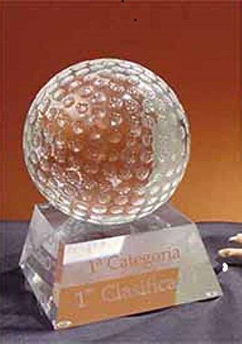Trofeo de Golf Bola de Cristal Opticol 9,5cm GRABADO Trofesport Trofeos PERSONALIZADOS