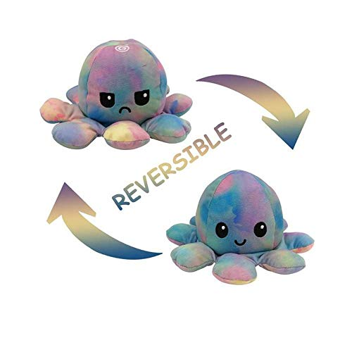 Peluche Pulpo Reversible Ultra Suave Plushie - Tie Dye -