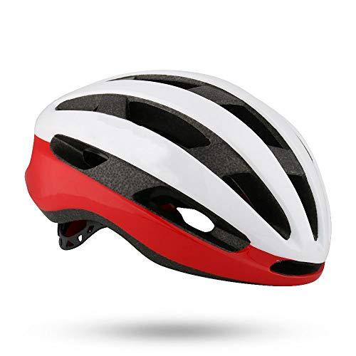 No-branded Motorrad-Zubehör Einteilige Rennrad Helm Unisex Professionelle Fahrradhelm bequem und atmungsaktiv LKYHYQ (Color : Rot)