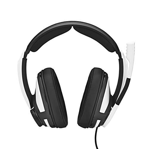 EPOS I Sennheiser GSP 301 Gaming Headset Kopfhörer, Geräuschunterdrückendes Mikrofon, Flip-to-Mute, Ergonomisch, Ohrpolster, Kompatibel mit PC Mac PS4 PS5 Xbox Series X Xbox One Nintendo Switch, Weiß