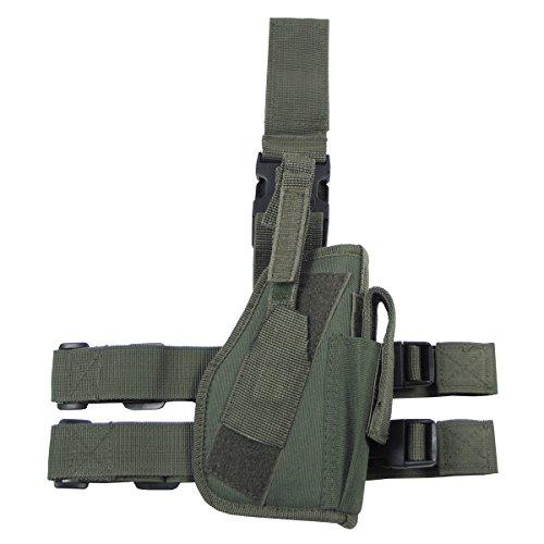 MFH Pistolet Leg Holster 30725A Fixation de Jambe et de Ceinture Droite (Olive)