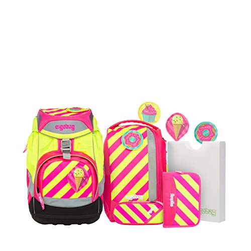 ergobag NEO Schulranzenset 7tlg. 35 cm (3 Kletties-Set)