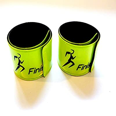 Finish It! Gear – 4 Pack- Reflective Snap Wrist & Ankle Bands – Reflective Gear for Running, Walking, Biking