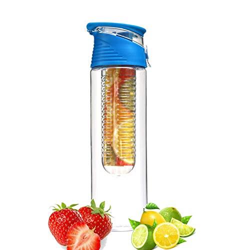JIAOJIAN 750 ml tragbare Obst wasserflasche Outdoor Sports flip Lemon saft Flasche Reise Camping haushaltsgegenstände 7 * 24.7cm Blau 750ml