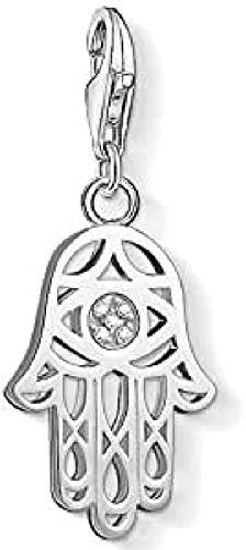 THOMAS SABO Damen-Anhänger Fatimas Hand Pavé 925 Silber Diamant weiß - DC0030-725-14