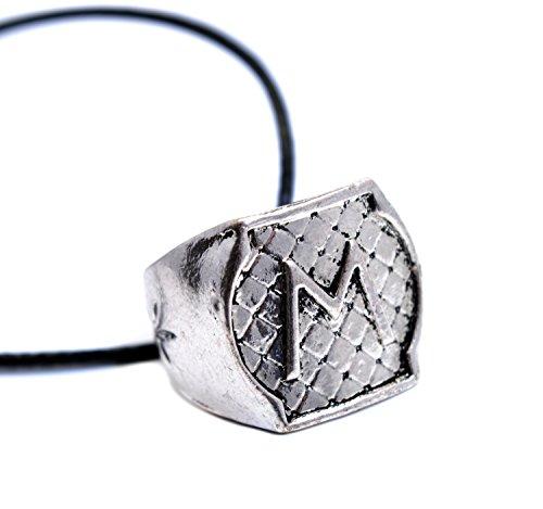 Morgenstern Family Ring Halskette - Die tödlichen Instrumente City of Bones Inspiriert Ring mit der Initial M graviert