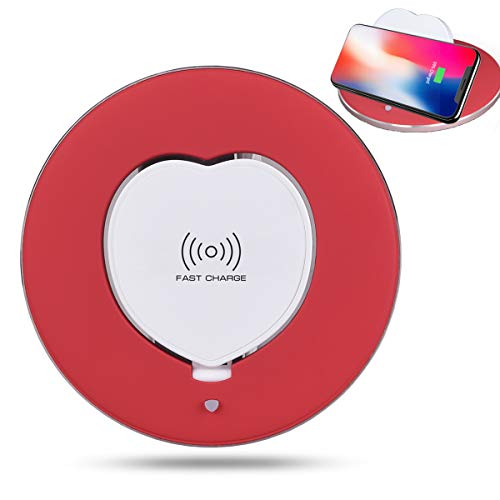Limxems Wireless Charger 10W Schnelles Qi Induktions Ladegerät, Ladestation für iPhone XS/XR/X/8/8 Plus, Samsung Galaxy S9/S8/S8 Plus/S7/S6 Edge/Note 8/Note 5