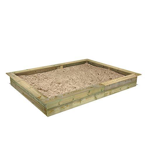FATMOOSE Sandkasten Holz Sandkiste PowerPit 195 x 250 cm
