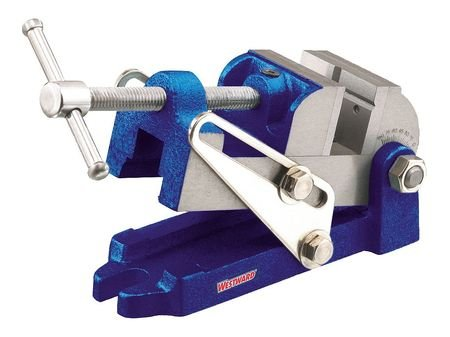 Affordable Drill Press Vise w/Angle, Stnry, 2-1/2 In