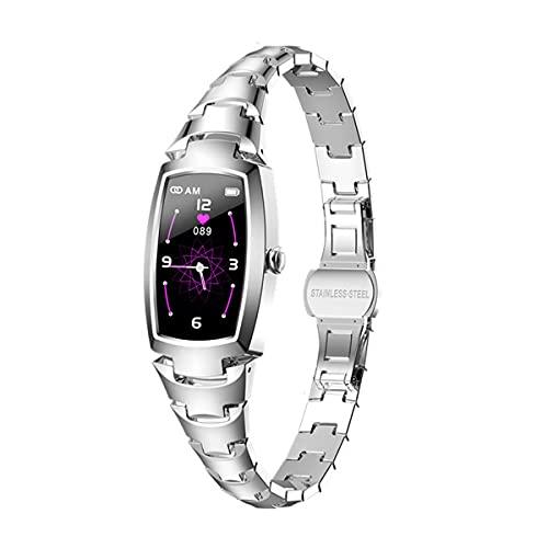 Relojes inteligentes para mujeres, pantalla táctil completa de 1.08 ', podómetro a prueba de agua IP67, reloj con monitor de sueño, reloj inteligente para teléfonos Android y teléfonos iOS (dorado)