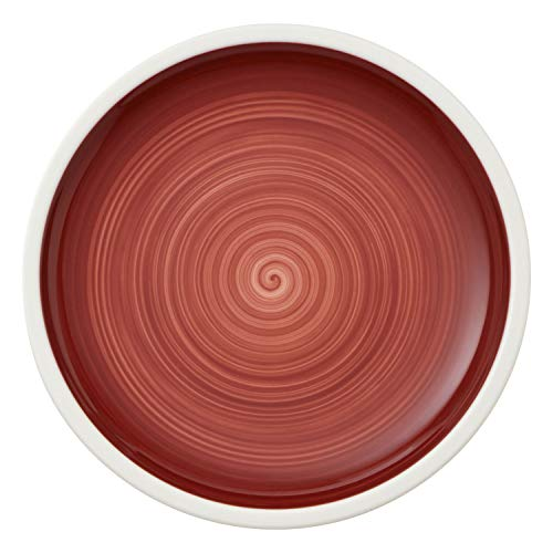 Villeroy & Boch Manufacture Rouge, handbemaltes vaisselle en rouge, grande qualité 32 cm Assiette à Pizza, Porcelaine, Blanc, 32 x 32 x 2 cm