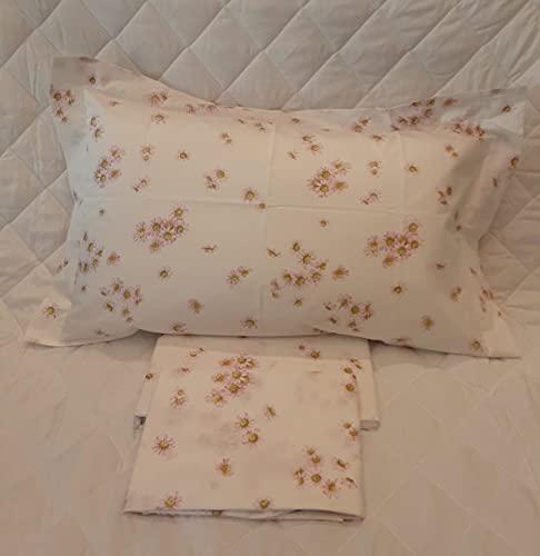 Mirabello Juego de sábanas para cama individual, efecto colcha
