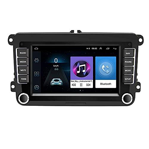 CAMECHO Android Car Radio per VW GPS Navigation 7 Pollici HD Touch Screen Bluetooth AM Ricevitore FM Player per Passat Golf Jetta EOS Polo Touran Seat Sharan