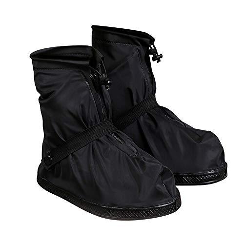 Yudesun Schuhüberzüge Regenschnee Stiefel - Überschuhe Galoschen Regenstiefel Wasserdicht Rutschfest Schützend Ausrüstung Wiederverwendbar Faltbar Verdickte Sohle Männer Frauen