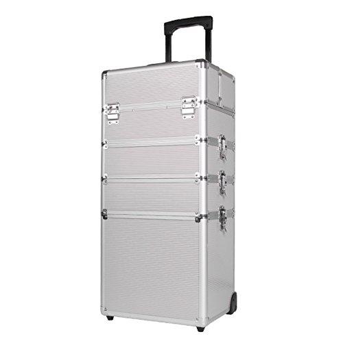 Ridgeyard Beauty Case da viaggio Cofanetto Trucco trolley make up case All Black (nero) - JJ-HZX-ABL