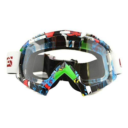 Máscara esquí montura colores lente transparente;