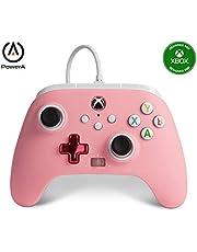 PowerA - Mando con cable mejorado PowerA para Xbox: en rosa, mando, mando para videojuegos con cable, mando de juego, Xbox Series X|S (Xbox Series X)