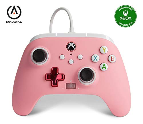 PowerA Enhanced Wired Controller for Xbox - Pink, Gamepad, Wired Video Game Controller, Gaming Controller, Xbox Series X|S, Xbox One - Xbox Series X