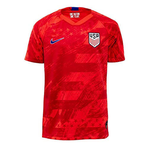 USA 2019 Youth Away Jersey (Red, Youth Large)