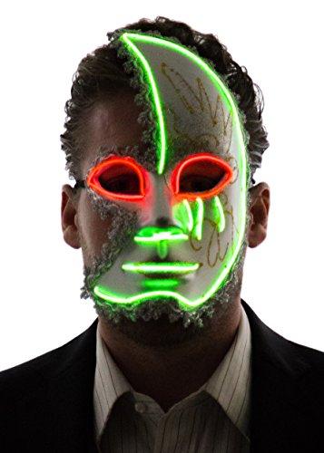 NEON NIGHTLIFE Máscara de la Luz Media Cara Veneciana de la Chispa de los Hombres,...